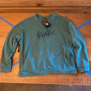 Teal green Nike just do it Therma shirt